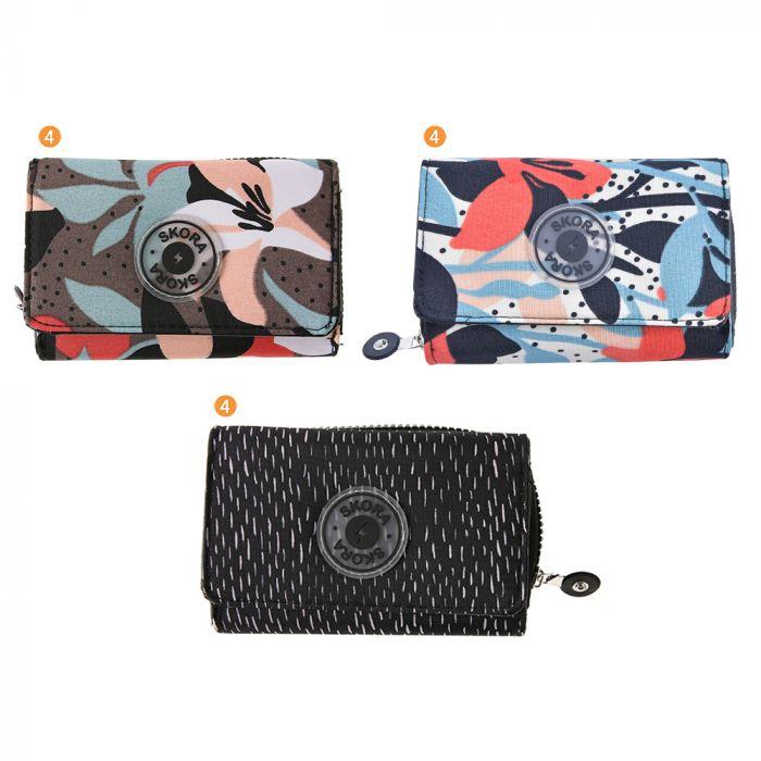 Billetera Dama Nylo Doble 14.5X9 x1u