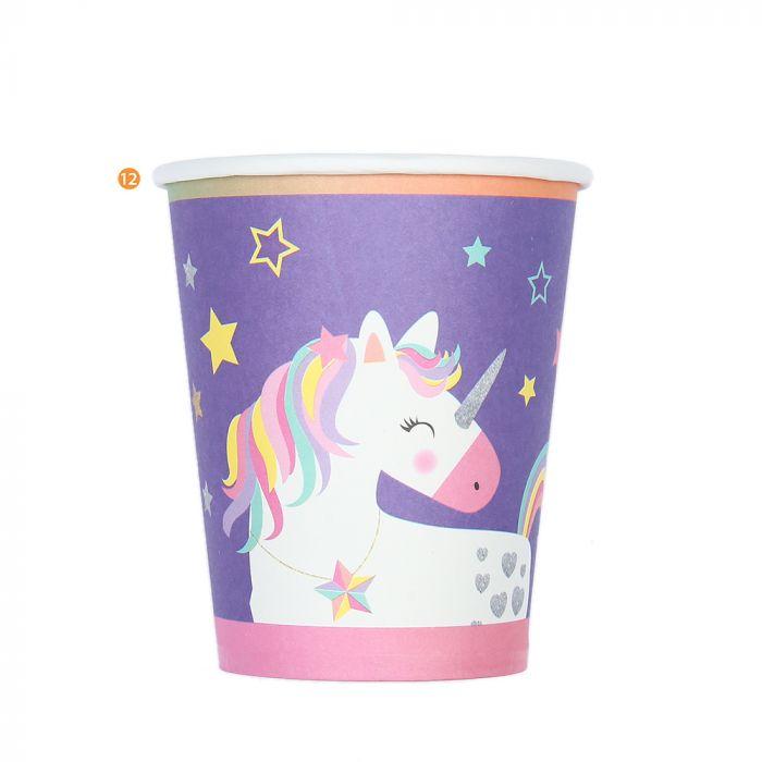 Bolsa de Vasos Descartables Unicornio x10u