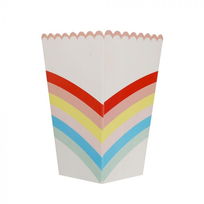 Bolsa de Cajas de Pochoclos Arcoiris x6u