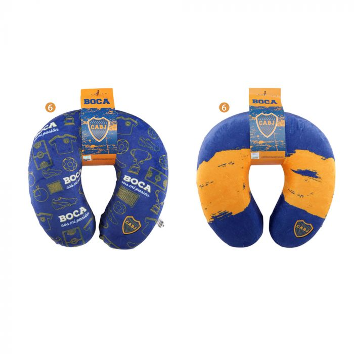 Almohada de viaje memory foam personalizada Boca  x1u