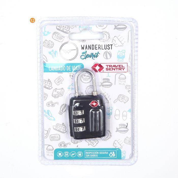 Candado con clave con TSA  x1u