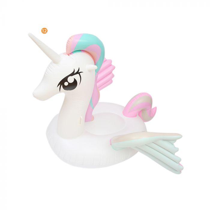 Inflable unicornio con alas 265x120x12  x1u