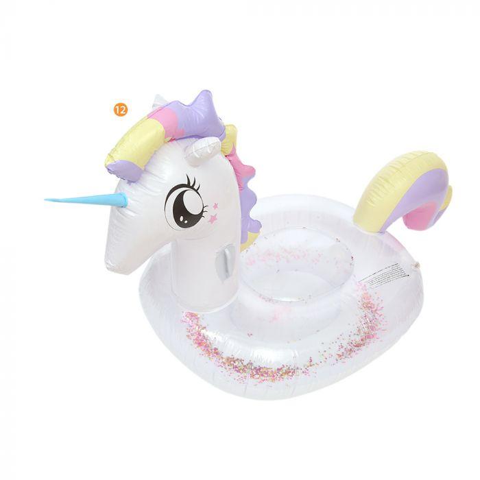 Inflable unicornio 200 x 90 x 10 x1u