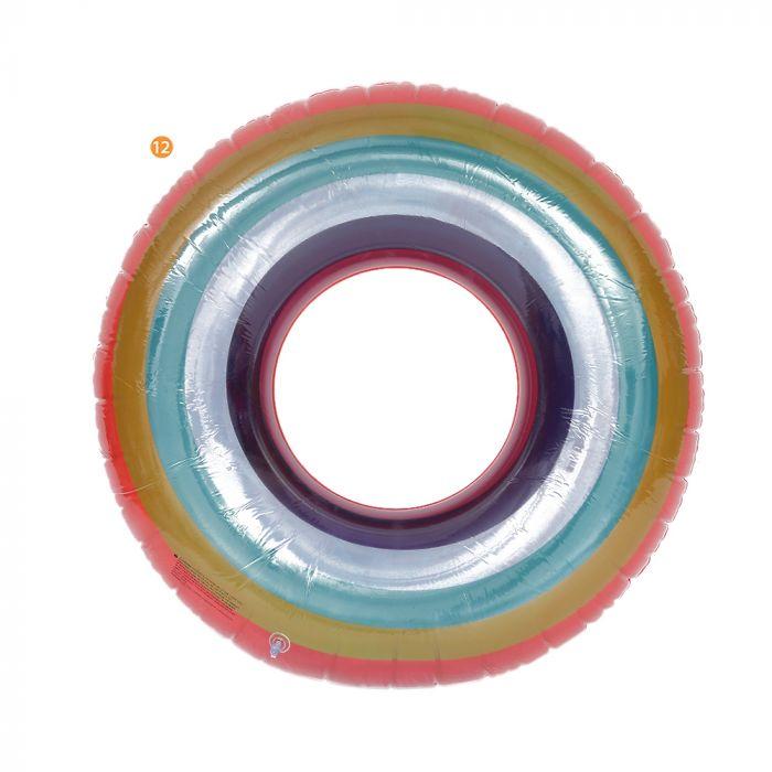 Inflable redondo arcoiris 108 cm x1u