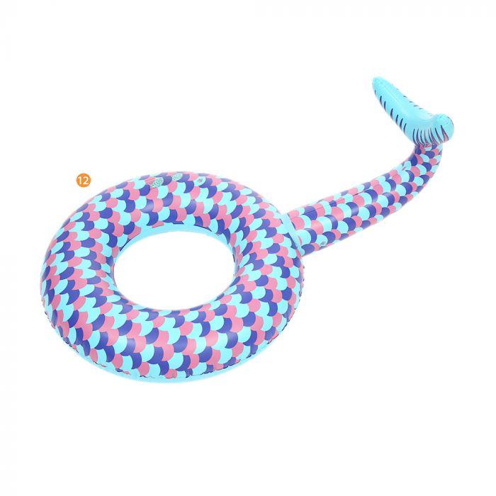Inflable redondo cola de sirena 120 cm x1u