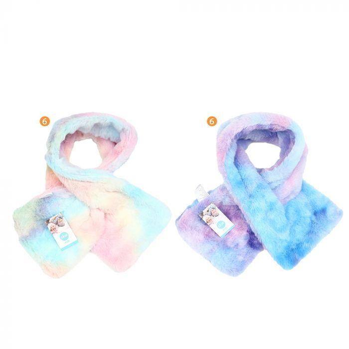 Bufanda infantil nena 78 cm peluche multicolor x1u