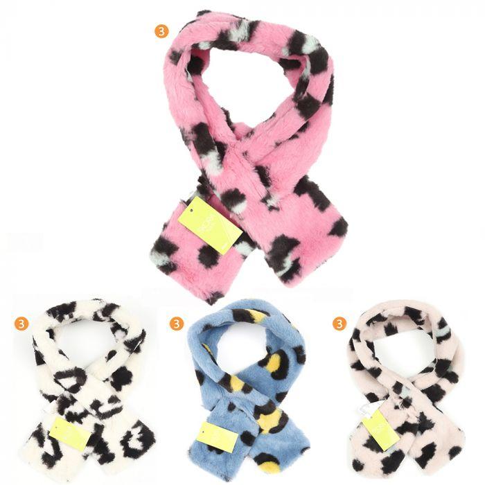 Bufanda dama 79x10 cm animal print piel x1u