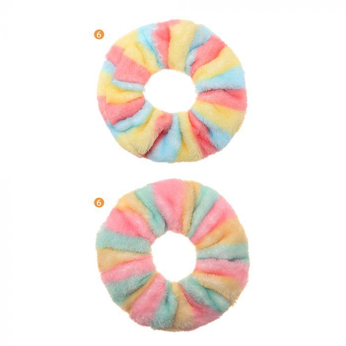 Scuncy peluche multicolor pastel x1u