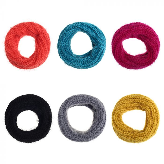 Cuello simple 24x22cm lana pelitos  x1u