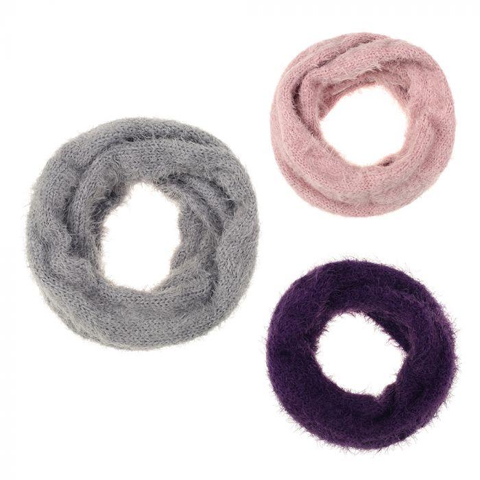 Cuello doble lana pelitos 55x19 cm x1u