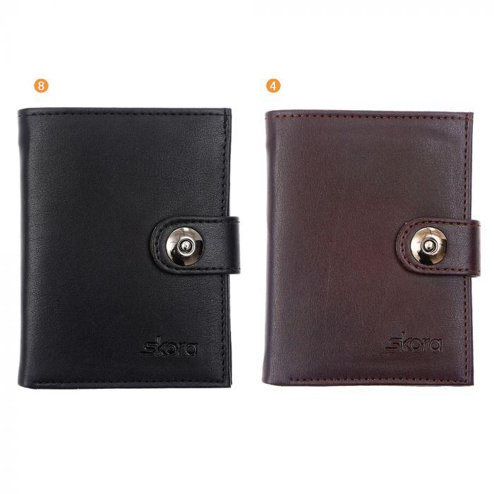 Billetera con broche hombre 12.5x9.5 cm x1u