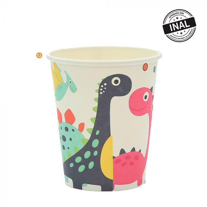 Bolsa de Vasos descartables dinosaurio x10u