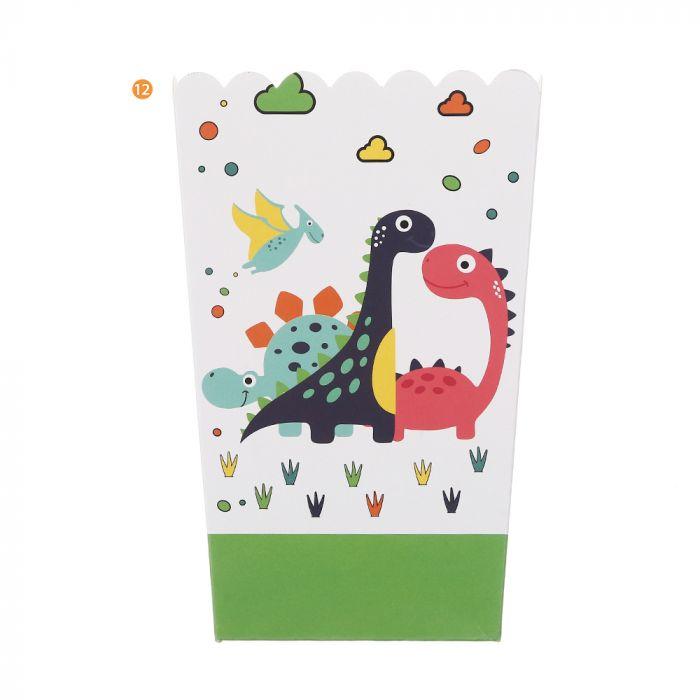Bolsa de Cajas de pochoclo dinosaurio x10u