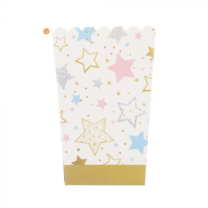 Bolsa de Cajas de Pochoclo estrellas x10u
