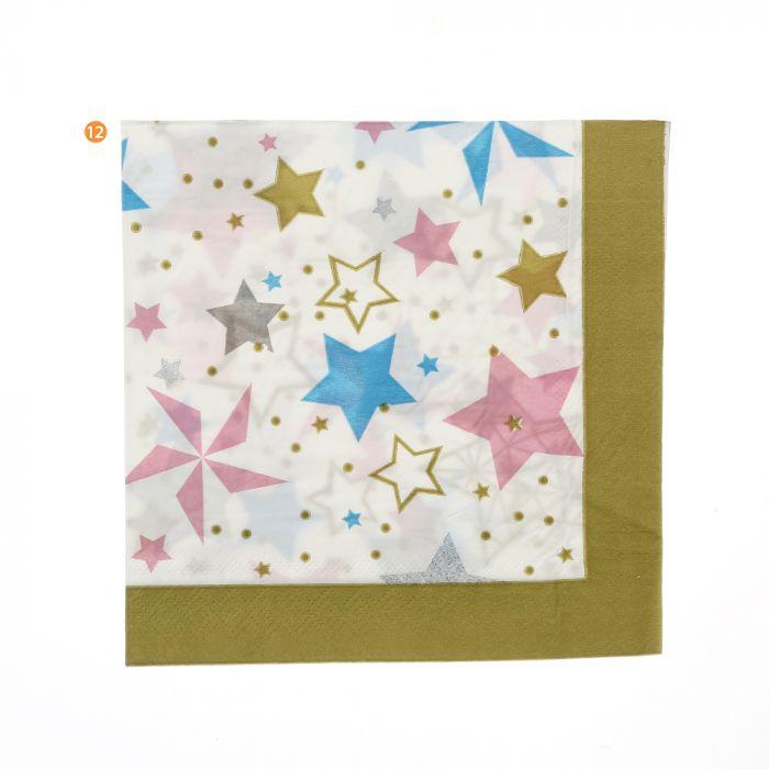 Bolsa de servilletas estrellas 16.5 cm x20u
