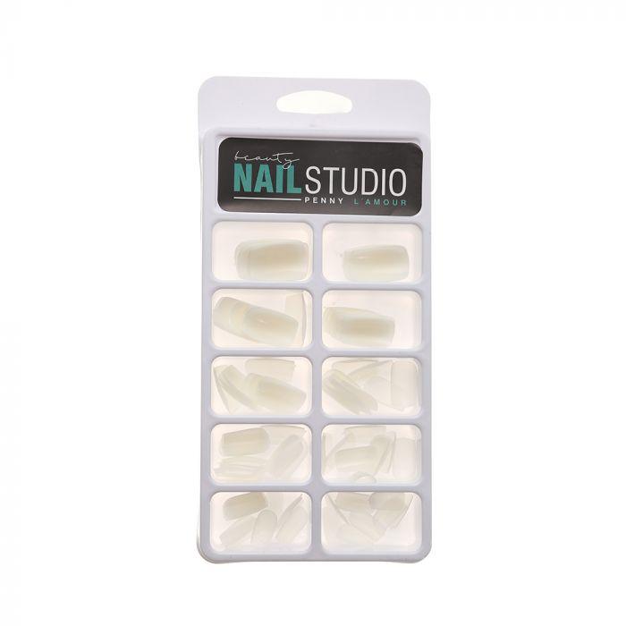 Caja de uñas postizas blancas x100u