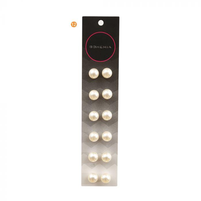 Set x 6 aro perla en tira 12 mm crudo x1u