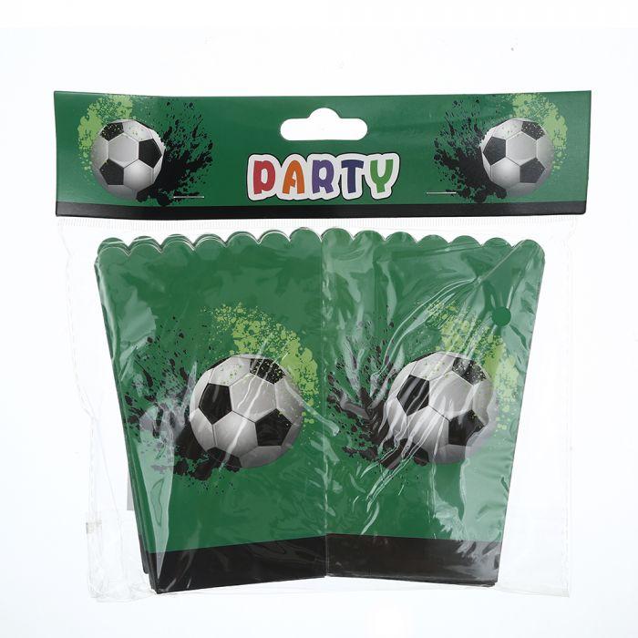 Caja pochoclo infantil diseño futbol x10u