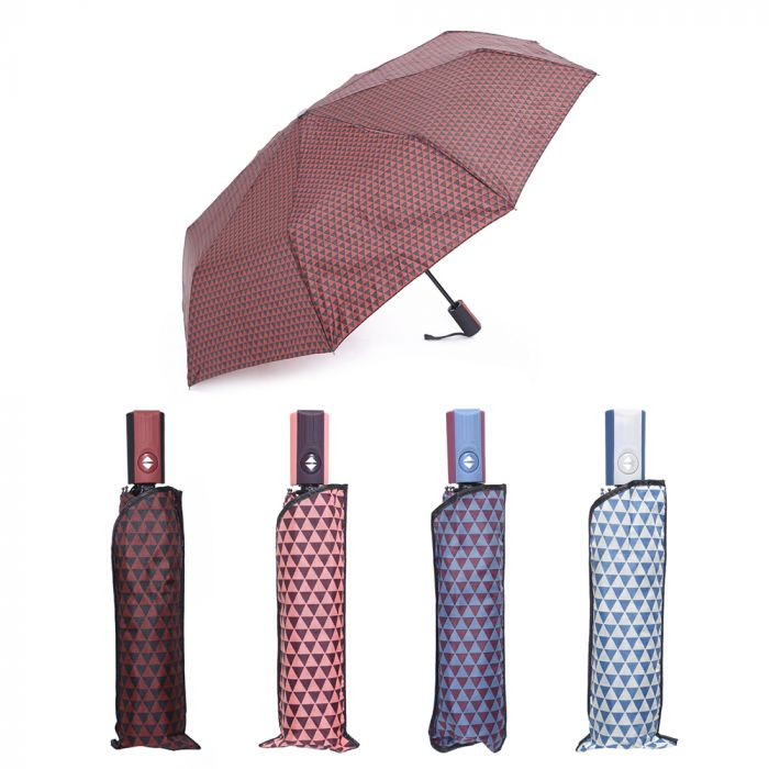 Paraguas dama estampado mini auto abre 8 varillas x1u