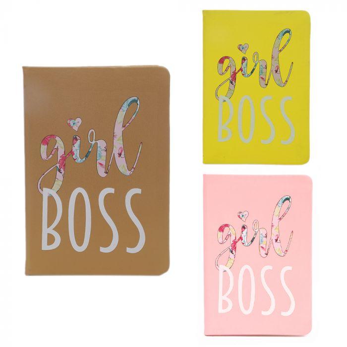 Cuaderno tapa dura girl boss 80 hojas A5 x1u