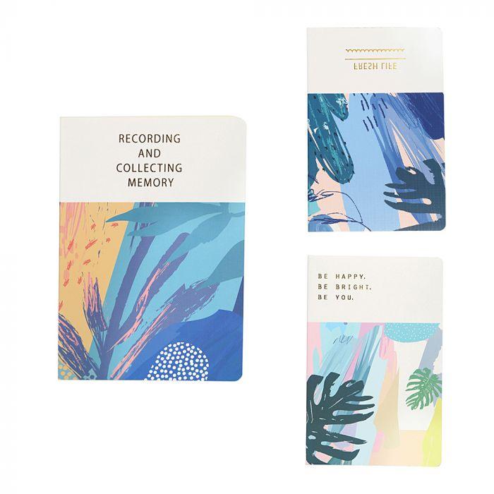 Set 3 cuadernos tapa blanda 80 hojas A5 x1u