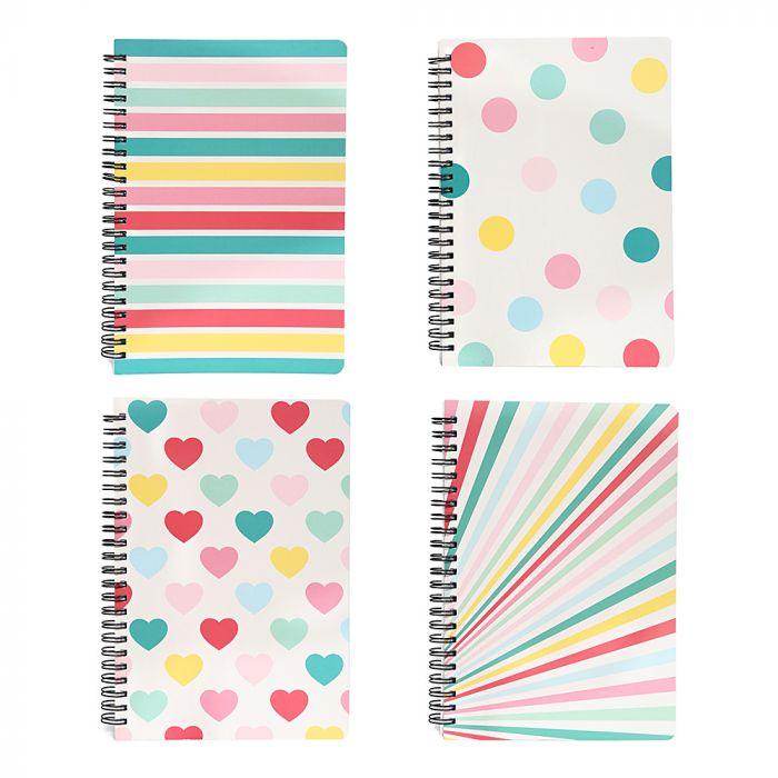 Cuaderno tapa dura anillado 80 hojas A5 x1u
