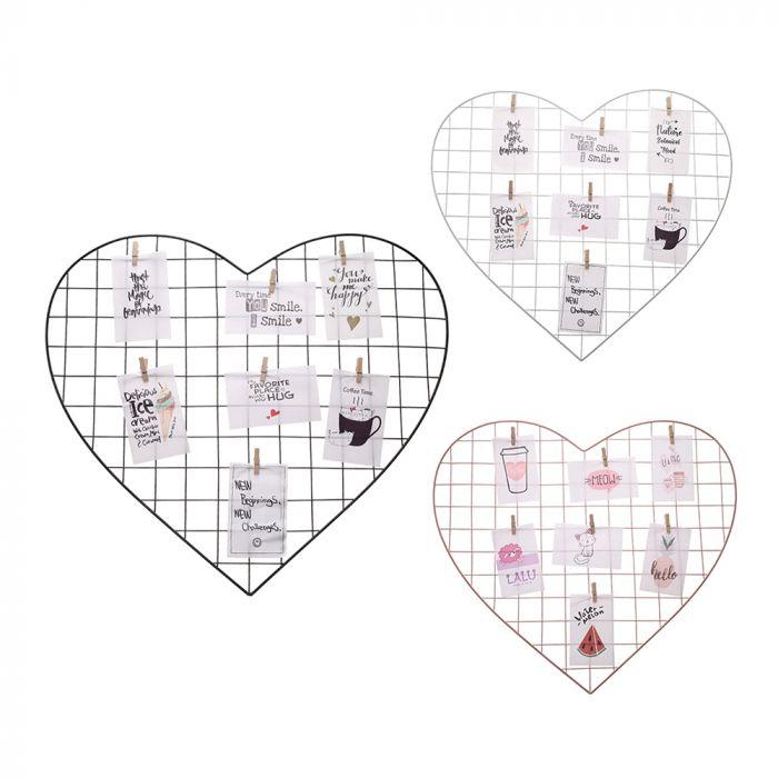 Portaretrato grilla metálica corazón 52x57 cm x1u