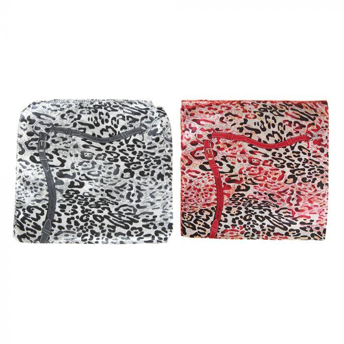 Pañuelo rasado 50x50 cm estampa 2 colores estampa tigre x1u