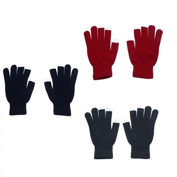 Guante escolar con 3 dedos touch x1u