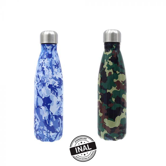Botella estampada Acero Inox. 500 ml x1u