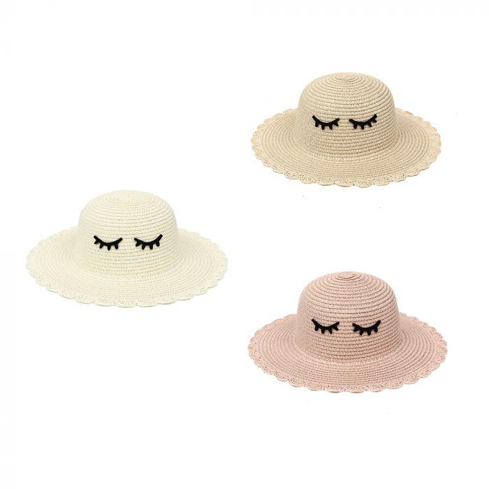 Sombrero capelina infantil ojitos 52cm x1u