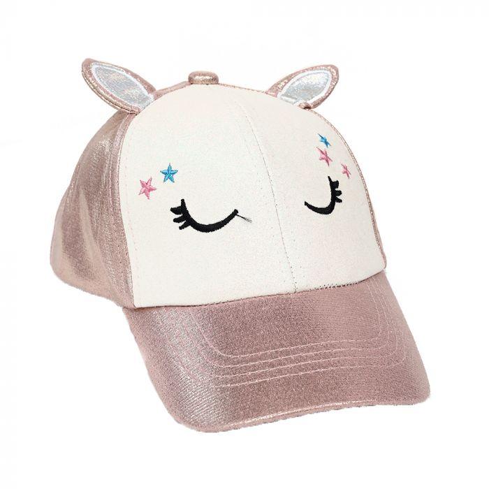 Gorro cap infantil con orejitas unicornio 54cm x1u