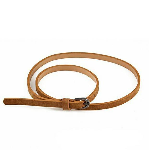Cinto fino cintura con herraje circular x1u